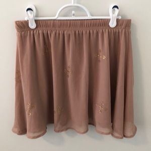 H&M Skirts - Light pink Skirt with gold accents